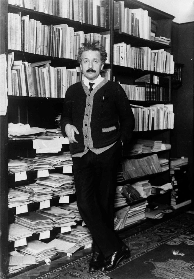 The real thing: Professor Albert Einstein at home circa 1925.