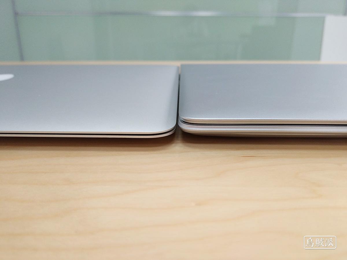 联想小新 Air 13 Pro 和 MacBook Air 正面对比